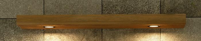 Achat vente bandeau pour spots en teck 140cm pour salle for Bandeau lumineux salle de bain