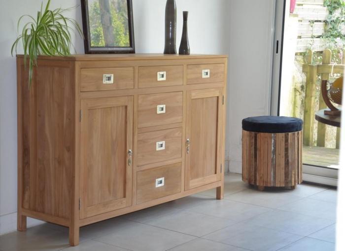 buffet en teck. Black Bedroom Furniture Sets. Home Design Ideas