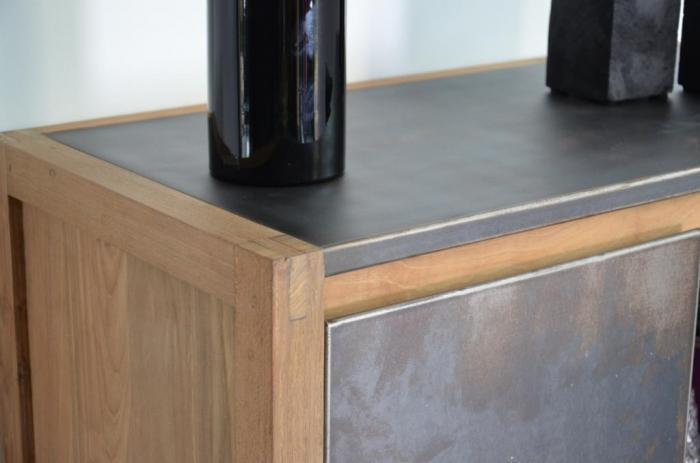 petit buffet en teck salon salle manger. Black Bedroom Furniture Sets. Home Design Ideas