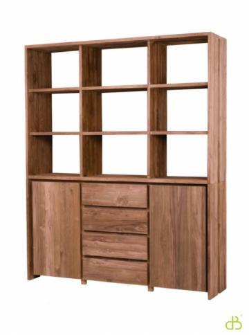achat vente vaisselierteck dbodhi gamme fissure. Black Bedroom Furniture Sets. Home Design Ideas