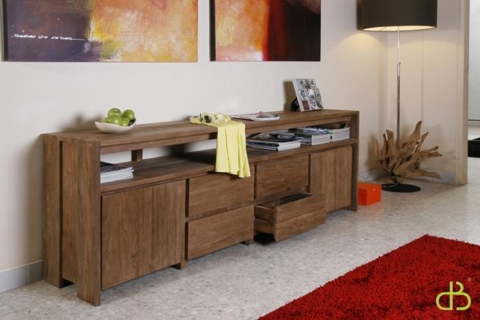 Achat vente buffet bas teck - Meuble tv buffet design ...
