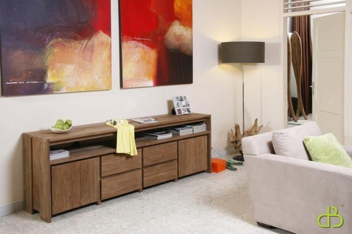 achat vente buffet bas teck. Black Bedroom Furniture Sets. Home Design Ideas