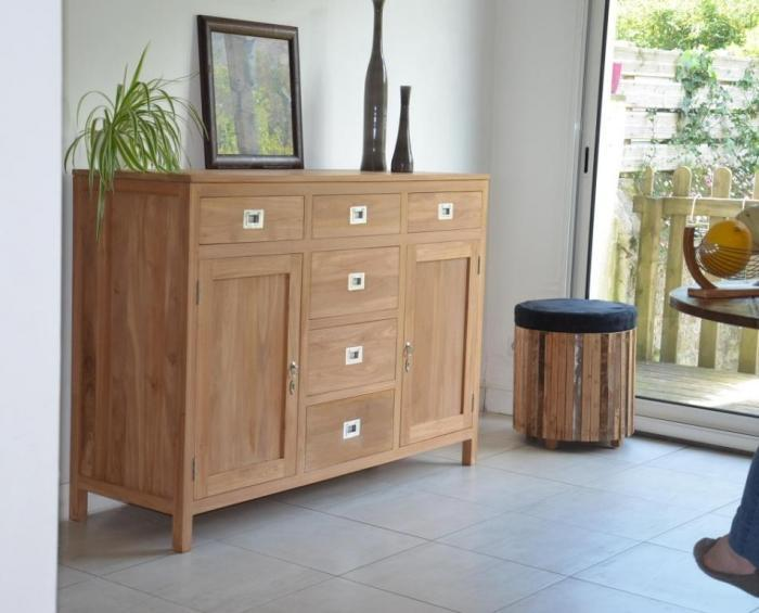 achat vente buffet en teck salon salle manger. Black Bedroom Furniture Sets. Home Design Ideas