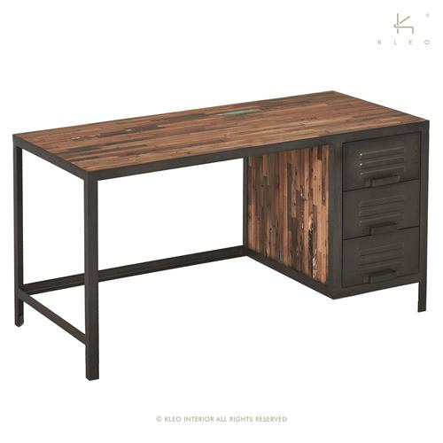 achat bureau de style industriel grand bureau de 140 cm. Black Bedroom Furniture Sets. Home Design Ideas