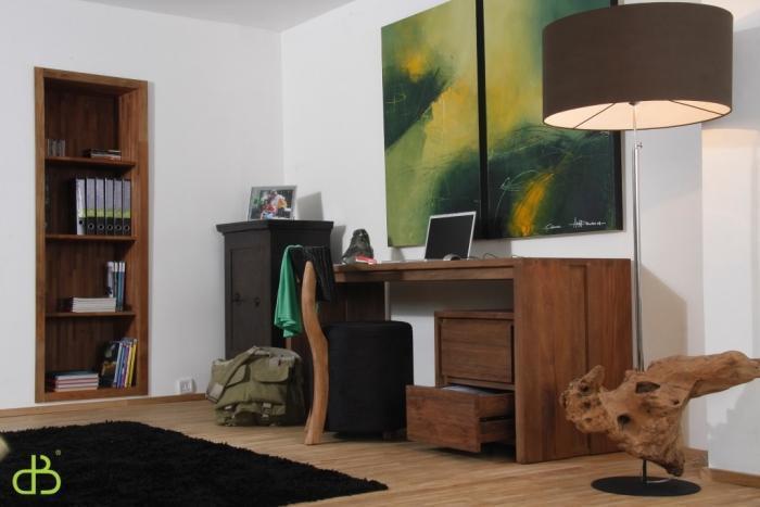 Vente table en teck dbodhi rectangulaire gamme fissure table salon salle manger - Ordinateur de salon ...