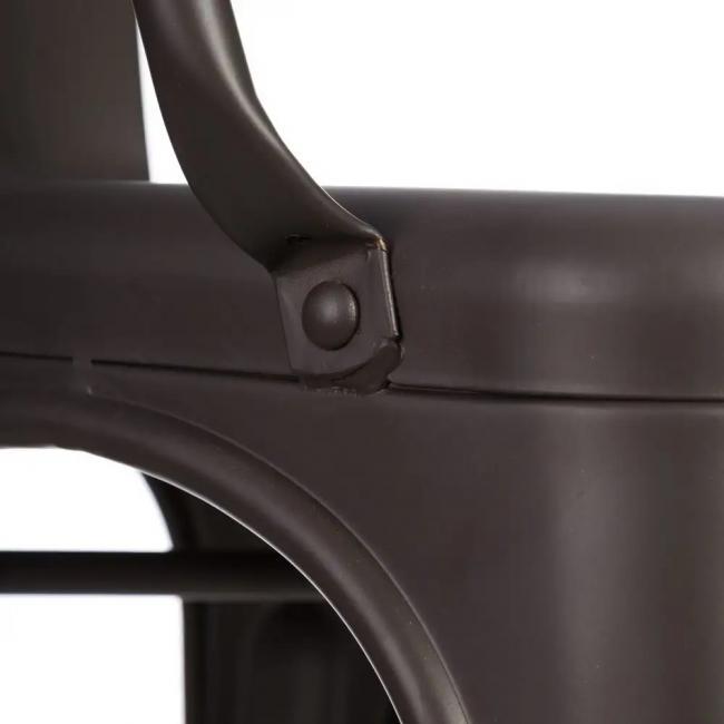 vintage finition mat Chaise et noire industrielle 8Oyv0PmNnw