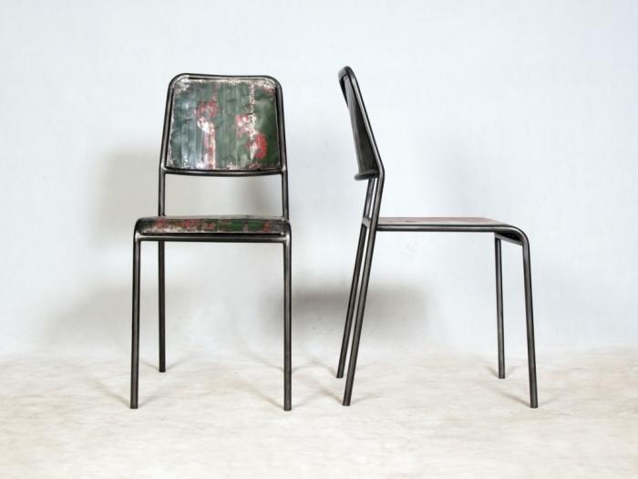 Chaise m tal style industriel cette chaise vous propose - Chaise art contemporain ...