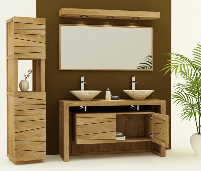 achat vente meuble de salle de bain groix sentani meuble On salle de bain en teck