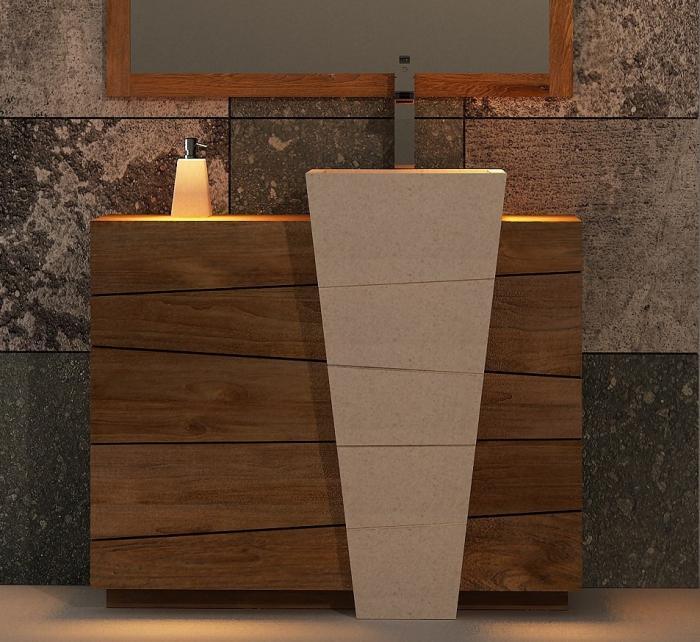 Achat meuble de salle de bain rhodes walk meuble en - Meuble salle de bain teck design ...
