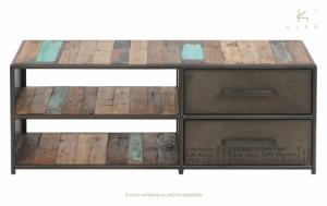 meuble tv en teck fonctionnel et design, aux dimensions variables - Meuble Urban Design