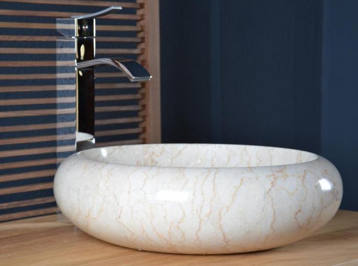 Acheter Vasque Salle De Bain En Marbre Fouesnant WALK Vasque - Vasque beige salle de bain