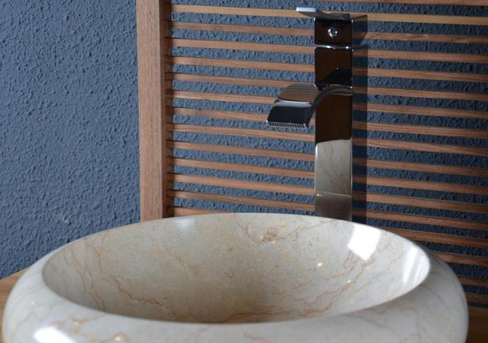 Acheter vasque salle de bain en marbre fouesnant walk vasque de salle de - Vasque beige salle de bain ...