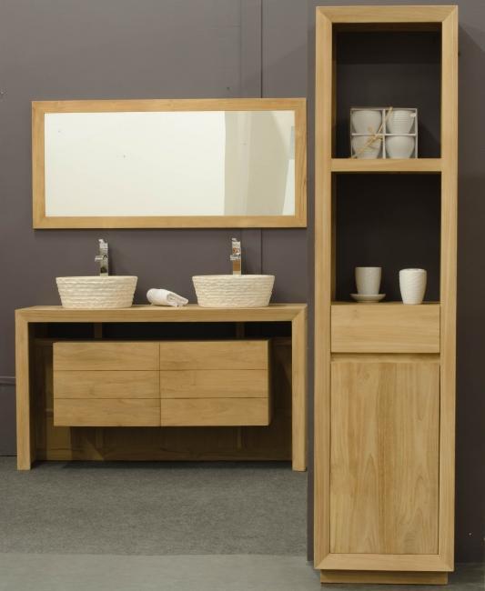 achat vente colonne tag re de salle de bains en teck baliase walk colonne salle debain. Black Bedroom Furniture Sets. Home Design Ideas