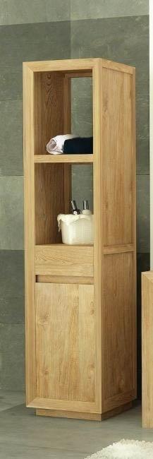 colonne salle de bain teck. Black Bedroom Furniture Sets. Home Design Ideas