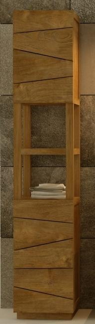 achat vente colonne tag re de salle de bains en teck rhodes walk colonne salle debain. Black Bedroom Furniture Sets. Home Design Ideas