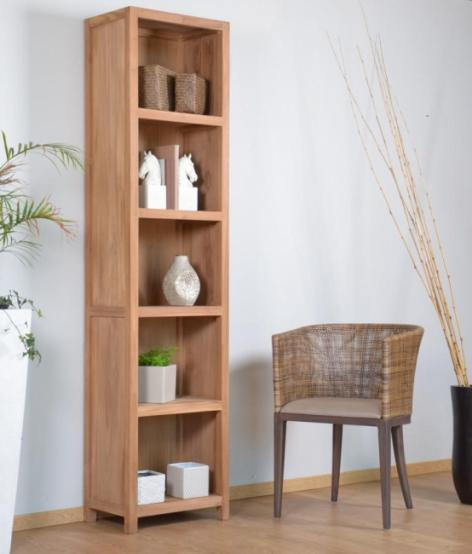 acheter etag re biblioth que en teck massif walk 15 c biblioth que etag re salon salle mang. Black Bedroom Furniture Sets. Home Design Ideas