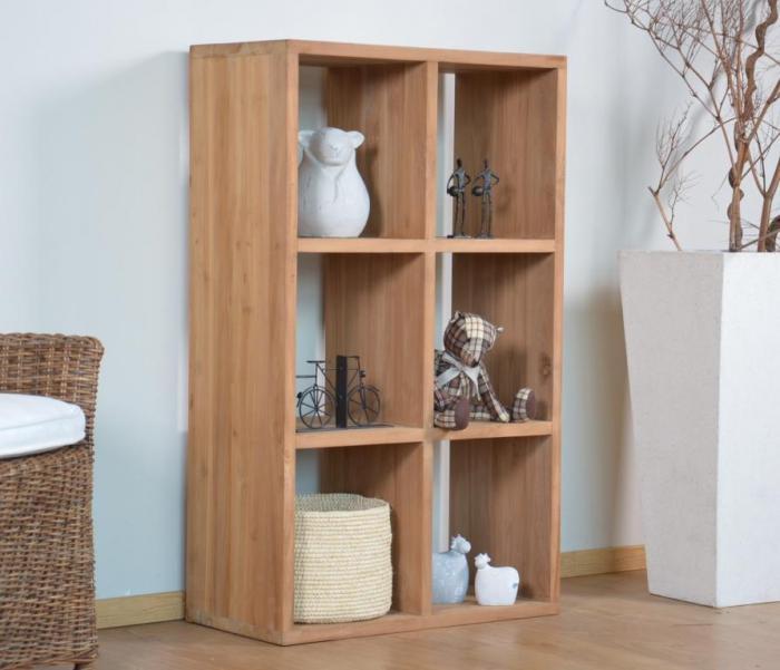 acheter etag re biblioth que en teck massif walk 15 c. Black Bedroom Furniture Sets. Home Design Ideas
