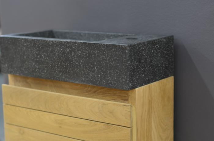 achat lave main mural teck meuble en teck pour petite salle de bain. Black Bedroom Furniture Sets. Home Design Ideas