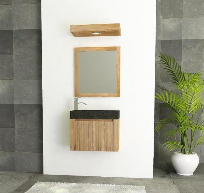 achat lave main mural teck petit lave main meuble en teck pour petite salle de bain. Black Bedroom Furniture Sets. Home Design Ideas