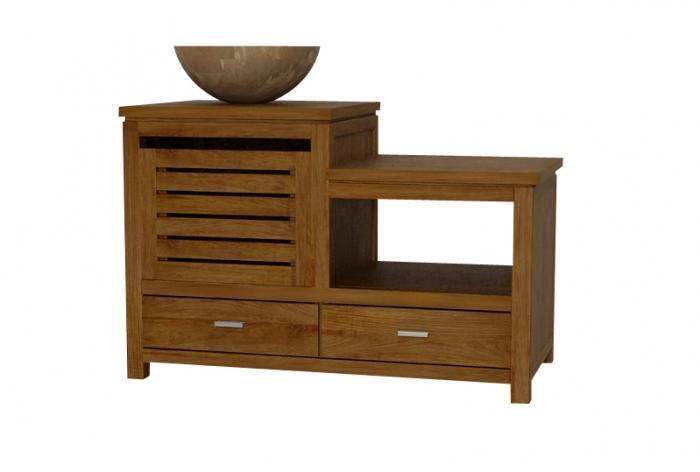 Acheter meuble de salle de bain en teck claouey l110 for Acheter meuble salle de bain