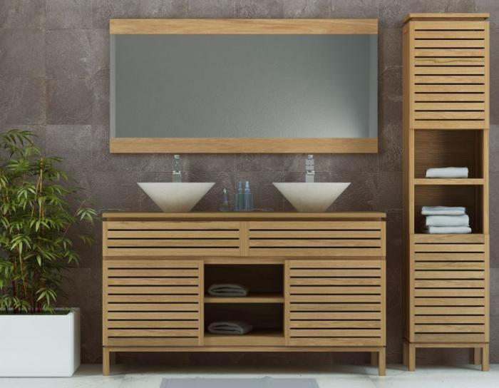 Achat meuble de salle de bain en teck walk pyla l110 for Achat meuble salle de bain