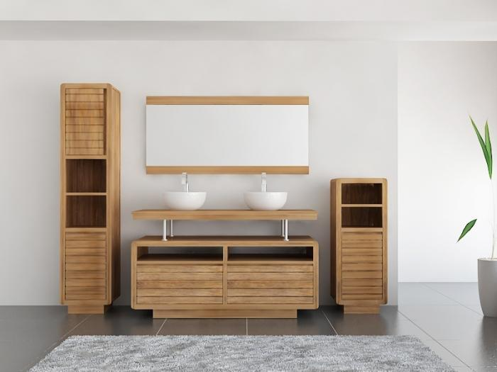 achat vente meuble de salle de bain teck mobilier en. Black Bedroom Furniture Sets. Home Design Ideas