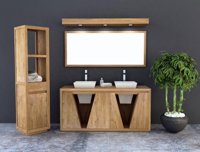 achat meuble de salle de bain teck oc ane 160 cm un superbe meuble en teck pour votre salle de bain. Black Bedroom Furniture Sets. Home Design Ideas