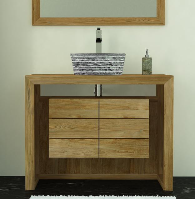 achat meuble de salle de bain groix walk meuble en teck. Black Bedroom Furniture Sets. Home Design Ideas