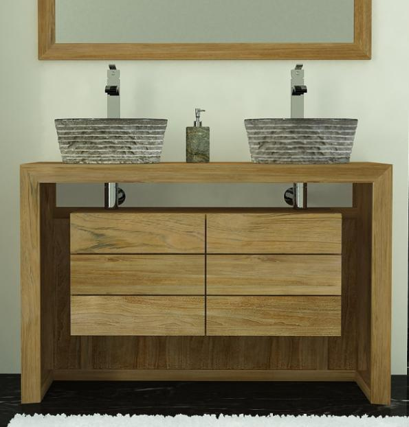 achat meuble de salle de bain groix walk meuble en teck salle de bain. Black Bedroom Furniture Sets. Home Design Ideas