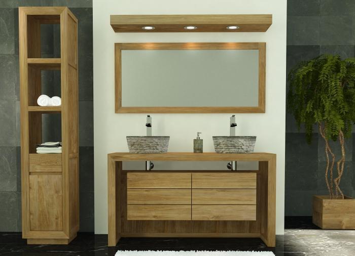 Meubles salle de bain en teck achat vente meuble de salle for Achat meuble salle de bain