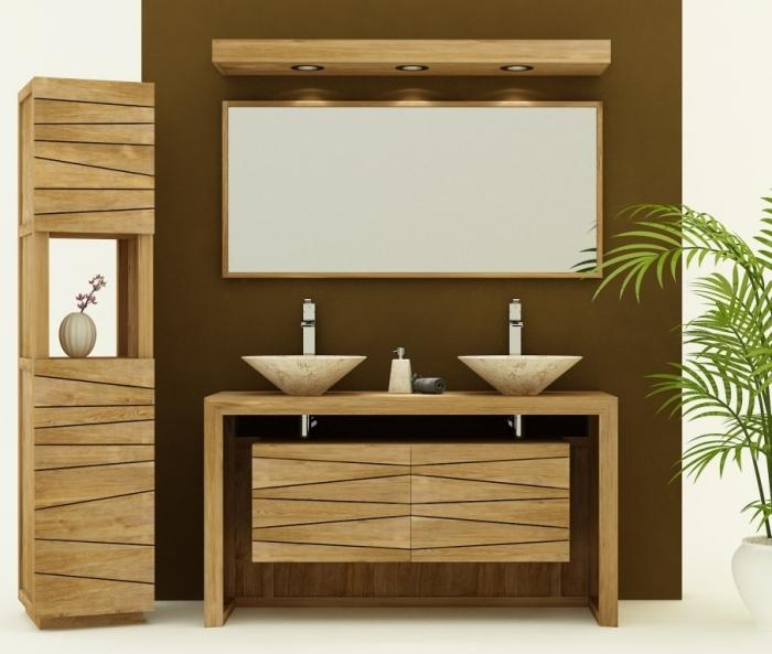 achat vente meuble de salle de bain groix sentani meuble en teck salle de bain 120. Black Bedroom Furniture Sets. Home Design Ideas