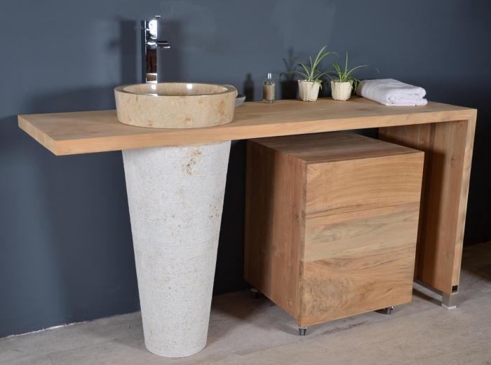 achat vente meuble de salle de bain jango meuble en teck salle de bain. Black Bedroom Furniture Sets. Home Design Ideas