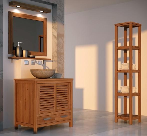Vente meuble salle de bain teck mimizan walk meuble en for Vente de meuble de salle de bain