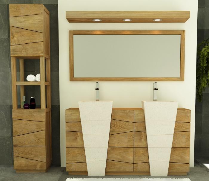 Achat vente meuble de salle de bain rhodes walk meuble - Meuble salle de bain ancien en bois ...