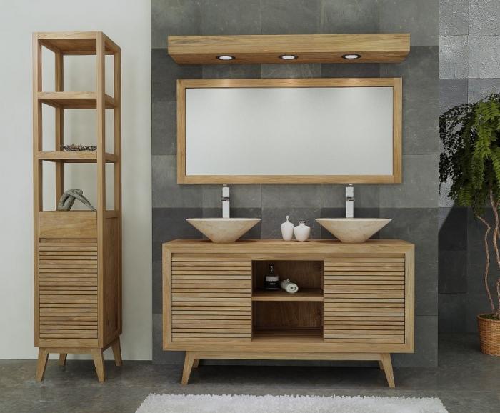Achat meuble de salle de bain sikka 2 portes walk meuble for Meuble de salle de bain 2 portes