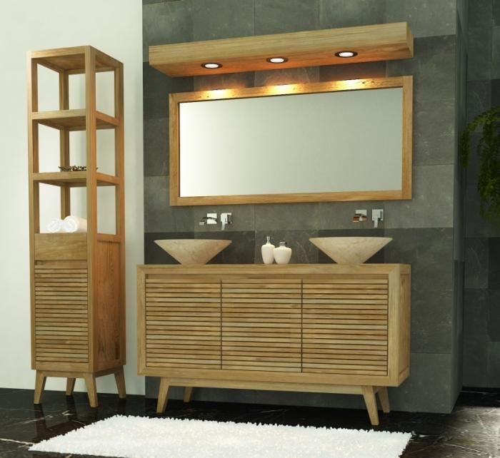 Achat meuble de salle de bain sikka walk meuble en teck for Meuble de salle de bain en teck solde