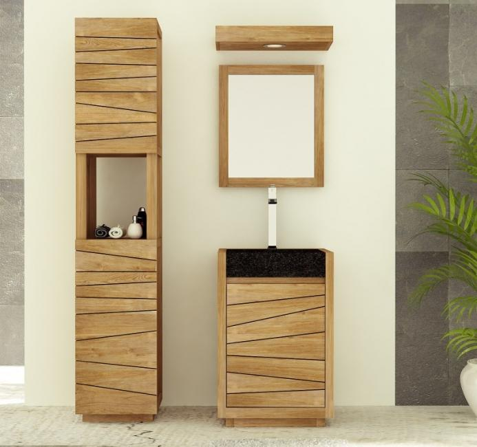 achat meuble de salle de bain teck tascon walk meuble en. Black Bedroom Furniture Sets. Home Design Ideas