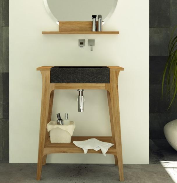 Achat meuble de salle de bain teck meuble en teck salle for Salle de bain en teck