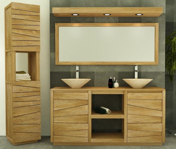 vente meuble de salle de bains teck 140 walk meuble en. Black Bedroom Furniture Sets. Home Design Ideas