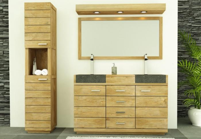 vente meuble de salle de bains belle ile l140 cm walk meuble en teck salle debain. Black Bedroom Furniture Sets. Home Design Ideas