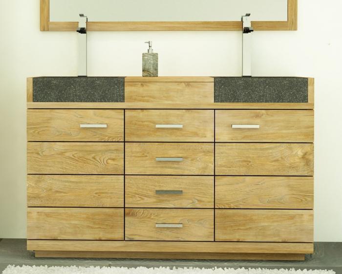 Vente meuble de salle de bains belle ile l140 cm walk for Meuble vasque salle de bain soldes