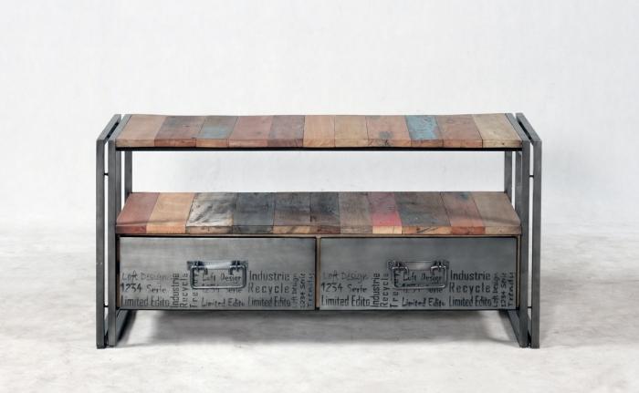 meuble tv bois style ancien – Artzeincom -> Artzein Commode