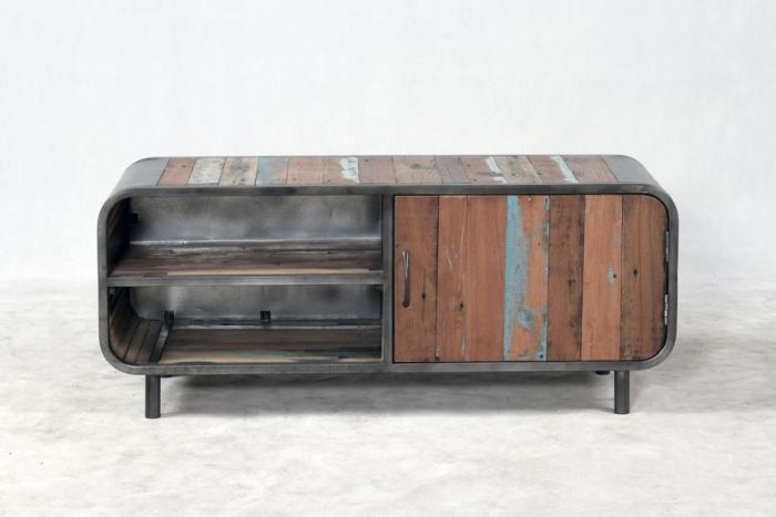 Achat meuble tv 120 cm au style r tro et vintage provenant for Meuble tv 60 cm
