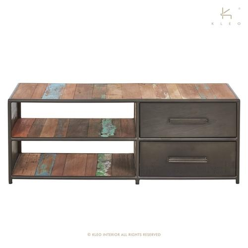 meuble tv 120 cm style industriel. Black Bedroom Furniture Sets. Home Design Ideas