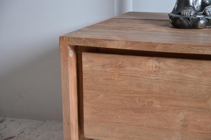 vente meuble tv en teck dbodhi gamme fissure table salon