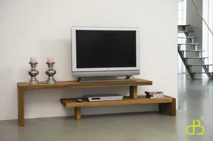 Vente meuble tv en teck dbodhi gamme lekk table salon salle manger - Meuble tv minimaliste ...