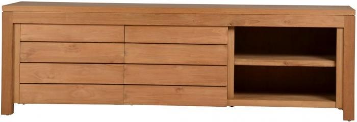 achat du meuble tv lena en teck recycl l160 walk. Black Bedroom Furniture Sets. Home Design Ideas