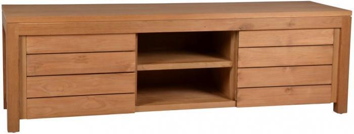 achat du meuble tv lena en teck recycl l160 walk. Black Bedroom Furniture Sets. Home Design Ideas