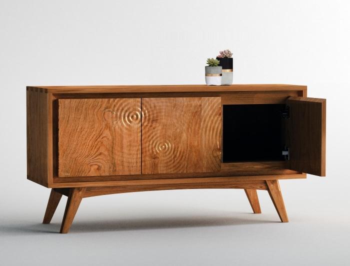 Meuble Tv Aros En Teck 120 Cm Pour Votre Salon