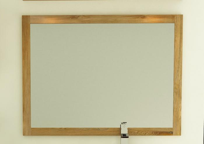 Miroir design teck rectangulaire longueur 100 cm for Miroir en long